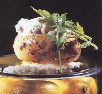 Ugnsbakad potatis med silltartar